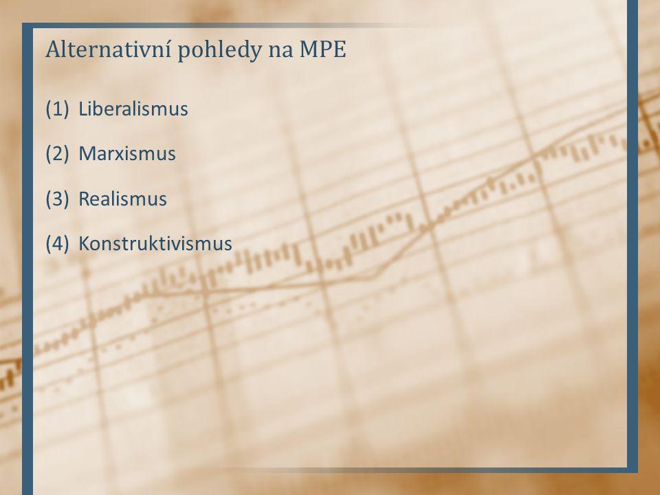 (1)Liberalismus (2)Marxismus (3)Realismus (4)Konstruktivismus