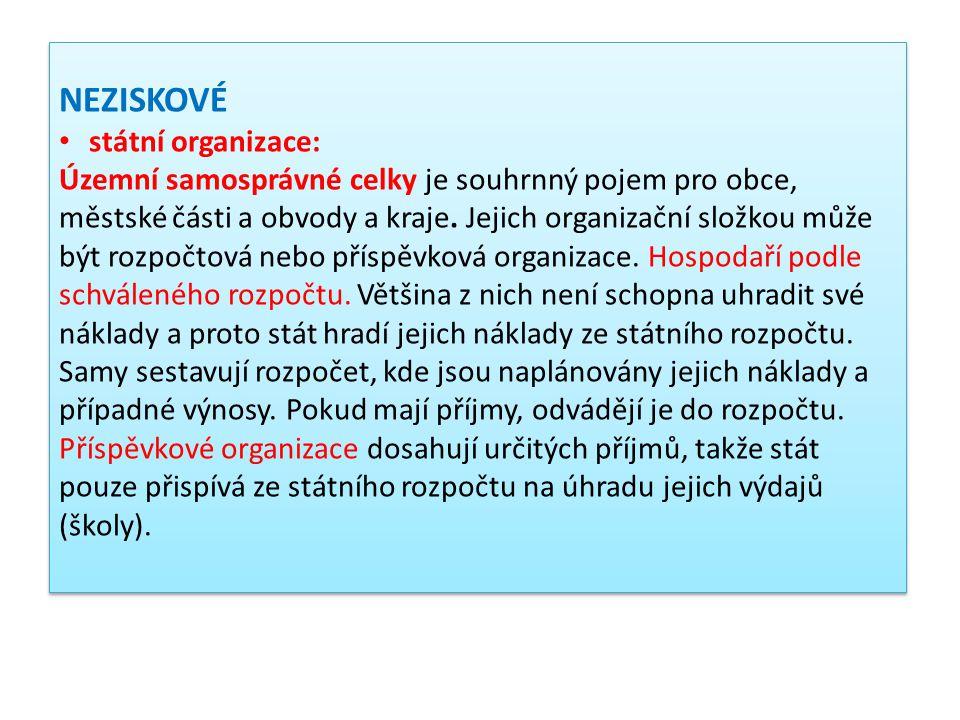 Příklad Obchodní akademie a Hotelová škola Havlíčkův Brod je příspěvkovou organizací, která vznikla 1.