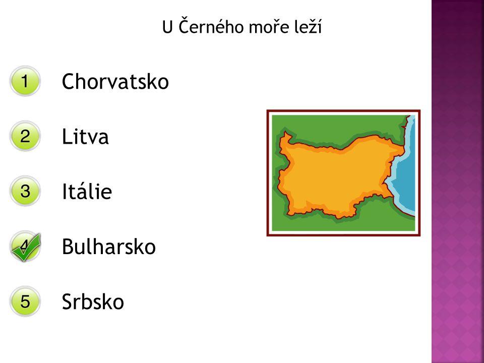 U Černého moře leží Chorvatsko Litva Itálie Bulharsko Srbsko