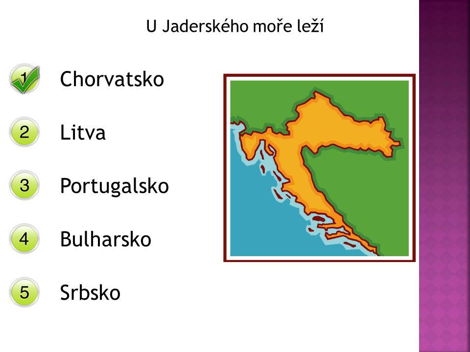 U Jaderského moře leží Chorvatsko Litva Portugalsko Bulharsko Srbsko