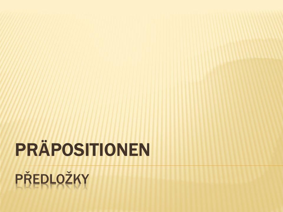  němčina má na rozdíl od češtiny pouze čtyři pády - nemůžeme tedy stejným způsobem používat otázky s kým, čím? , o kom, o čem? nebo komu,čemu , koho, co  je potřeba naučit se s jakým pádem se daná předložka pojí a následně tento pád použít pro příslušný rod podstatného jména!!!!!!!!!!!!.