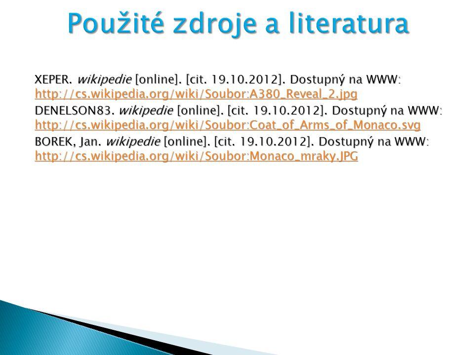 XEPER. wikipedie [online]. [cit. 19.10.2012]. Dostupný na WWW: http://cs.wikipedia.org/wiki/Soubor:A380_Reveal_2.jpg http://cs.wikipedia.org/wiki/Soub