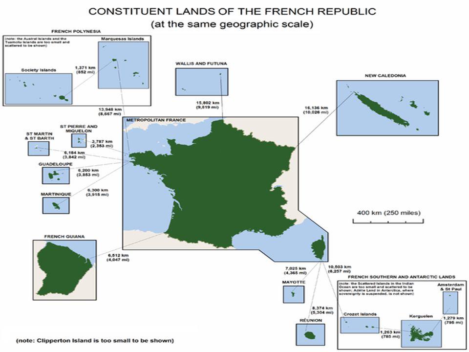 Mapa frankofonních zemí: 1.