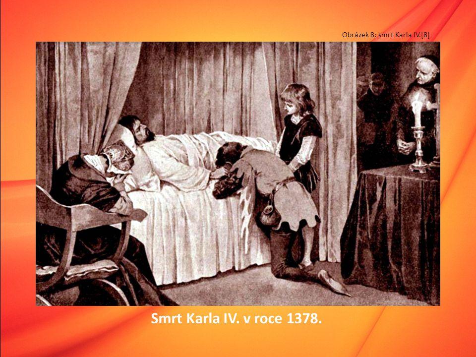 Smrt Karla IV. v roce 1378. Obrázek 8: smrt Karla IV.[8]