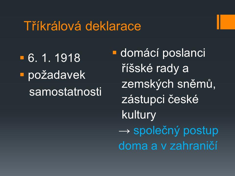 Tříkrálová deklarace  6.1.