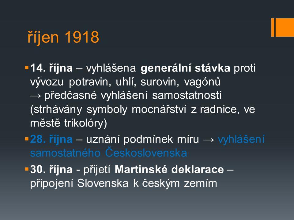 říjen 1918  14.