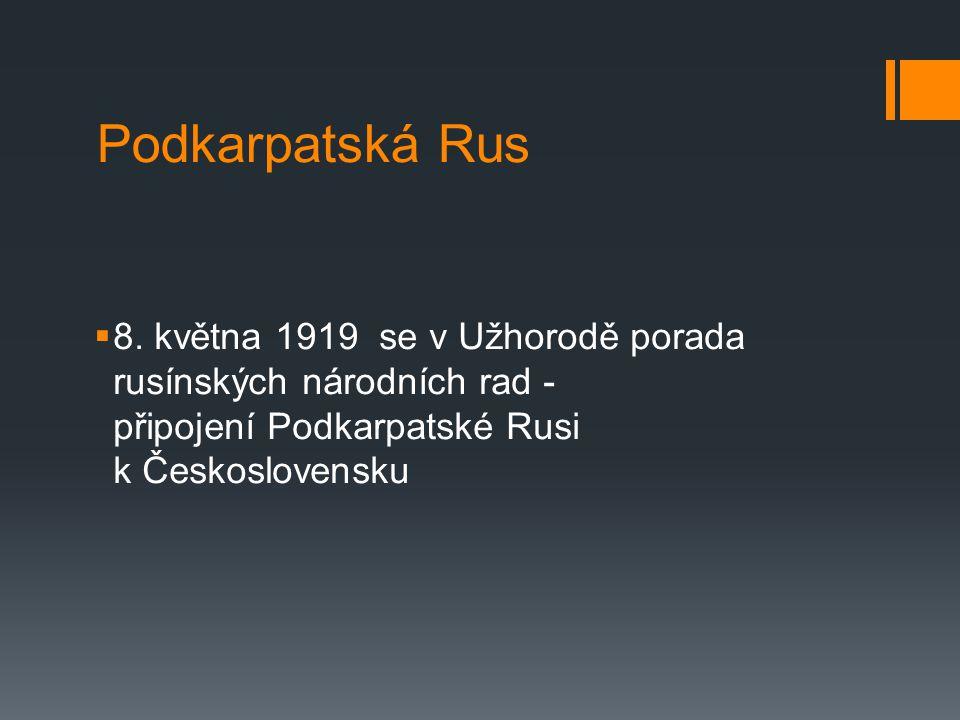 Podkarpatská Rus  8.
