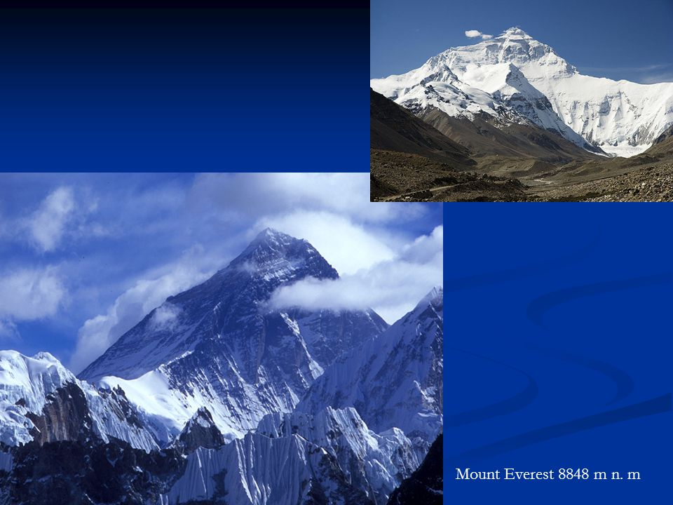 Mount Everest 8848 m n. m