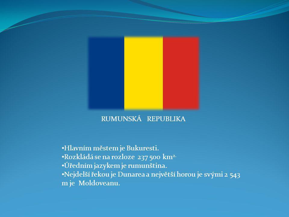 BULHARSKÁ REPUBLIKA Hlavním městem je Sofia. Rozkládá se na rozloze 110 994 km 2. Úředním jazykem je bulharština. Nejdelší řekou je Marica a největší