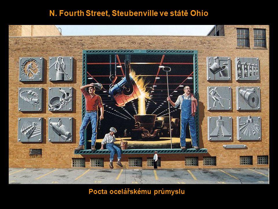 Hollywood Blvd., Steubenville ve státě Ohio Brána do města Steubenville
