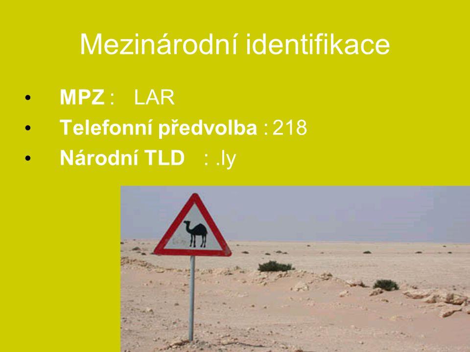 Mezinárodní identifikace MPZ :LAR Telefonní předvolba :218 Národní TLD :.ly