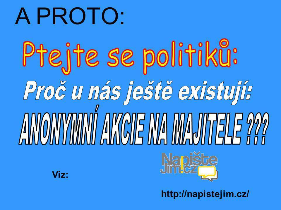 A PROTO: http://napistejim.cz/ Viz: