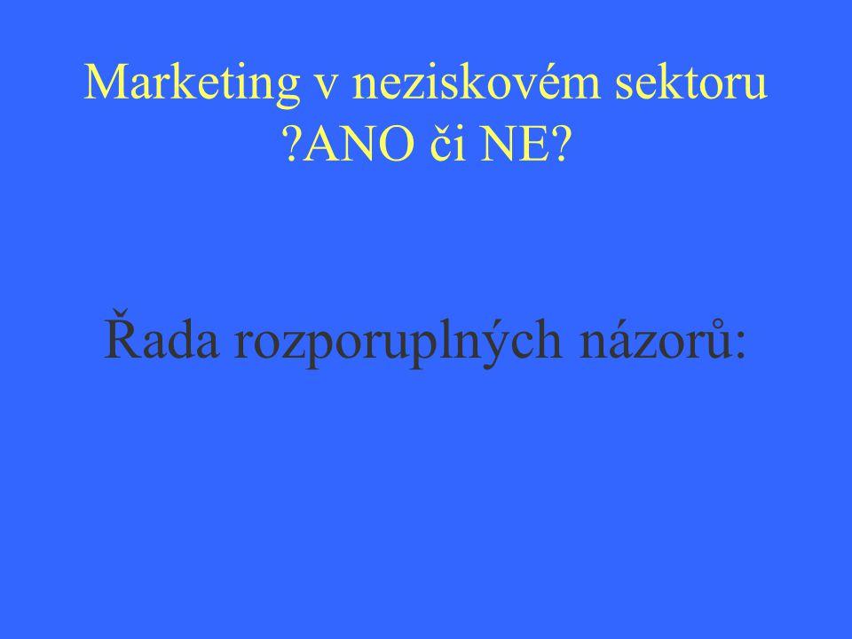 Co představuje marketing v neziskových organizacích?.