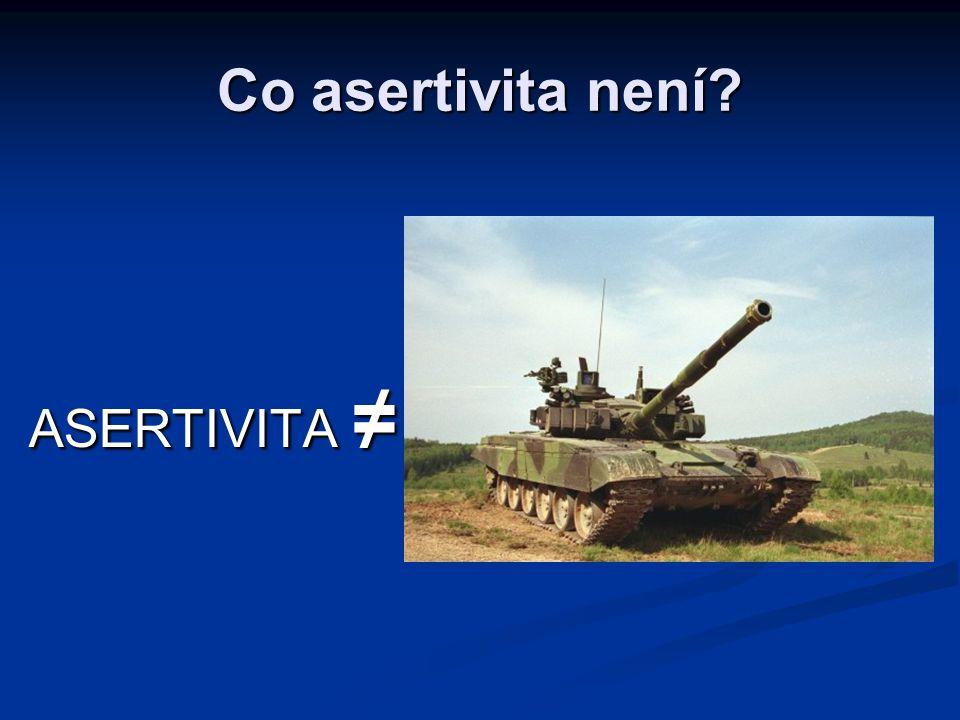 ASERTIVITA ≠ Co asertivita není?