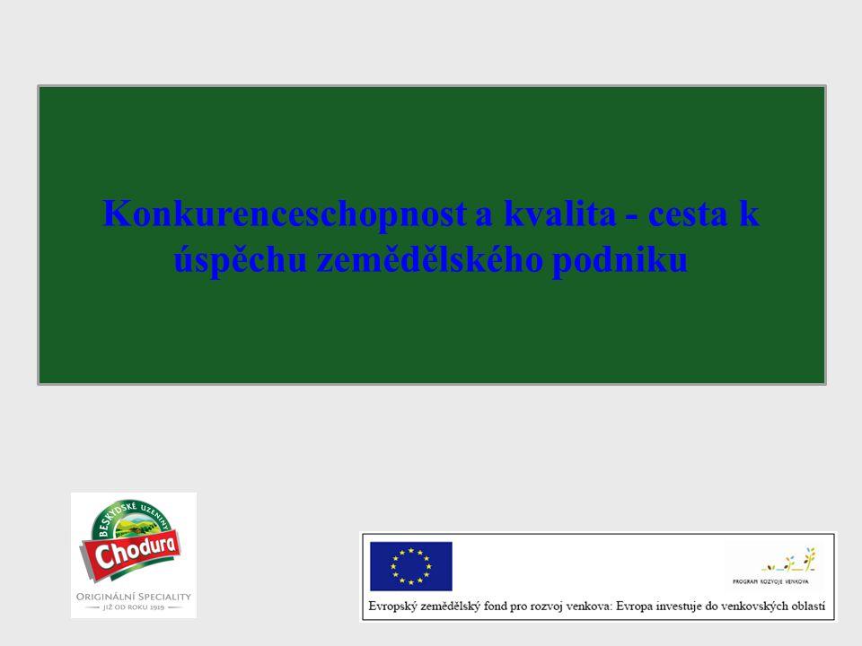 Prodejní dovednosti pro společnost Chodura Konkurenceschopnost a kvalita - cesta k úspěchu zemědělského podniku