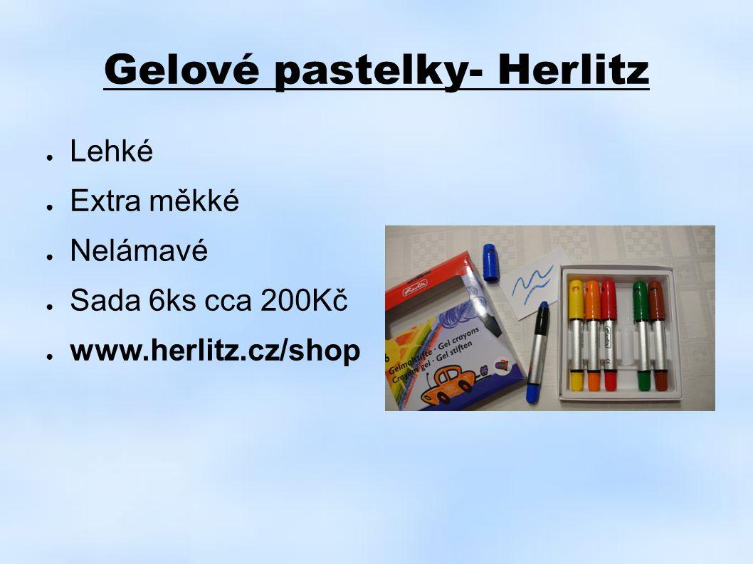 Gelové pastelky- Herlitz ● Lehké ● Extra měkké ● Nelámavé ● Sada 6ks cca 200Kč ● www.herlitz.cz/shop