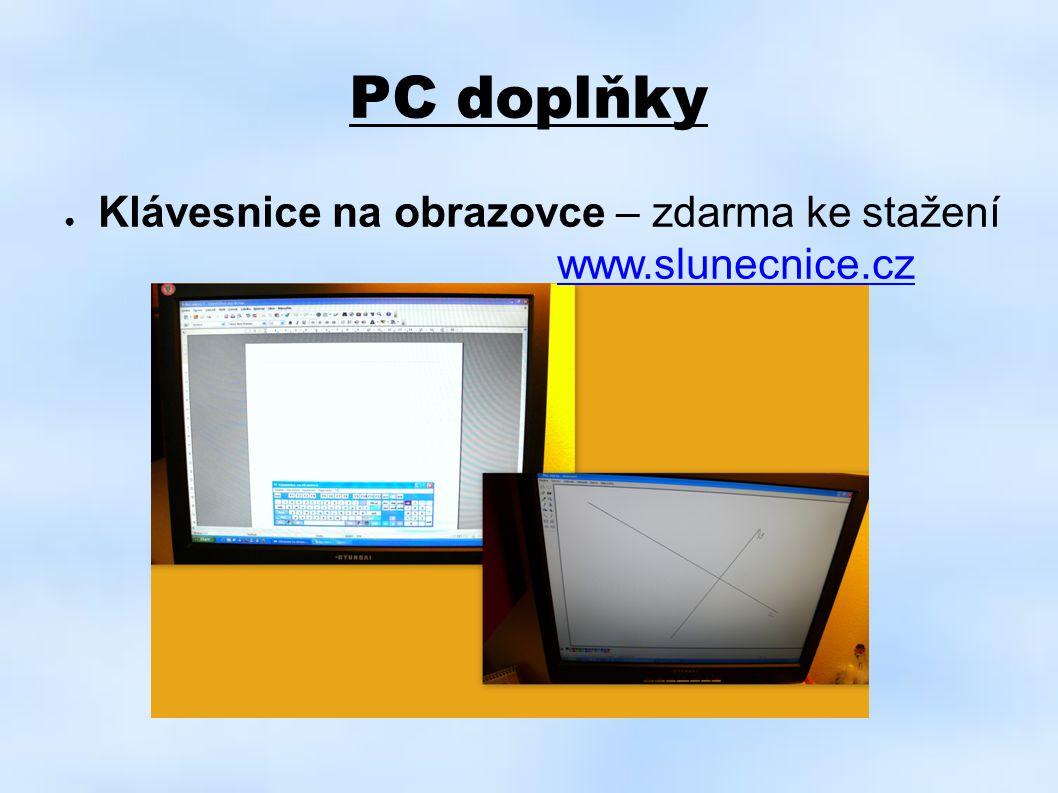 PC doplňky ● Klávesnice na obrazovce – zdarma ke stažení www.slunecnice.czwww.slunecnice.cz