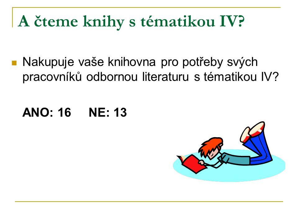 A čteme knihy s tématikou IV.