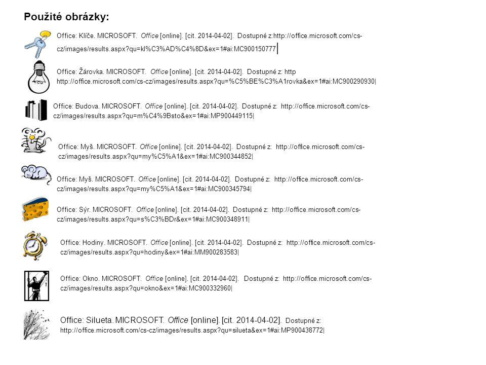Office: Klíče.MICROSOFT. Office [online]. [cit. 2014-04-02].