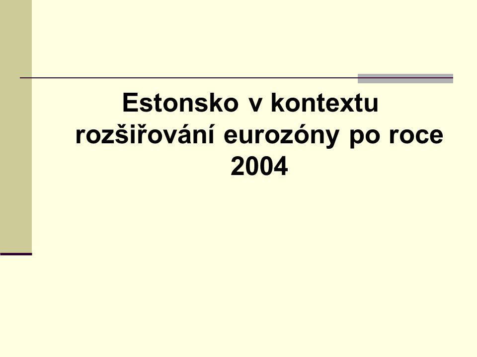 Estonsko v kontextu rozšiřování eurozóny po roce 2004