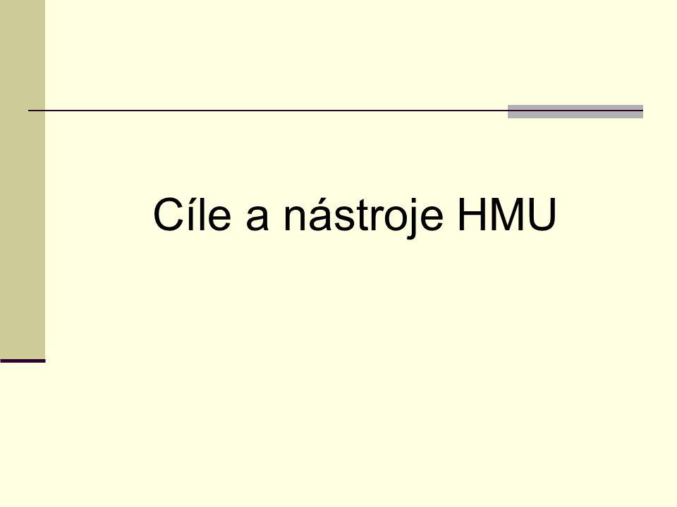Cíle a nástroje HMU