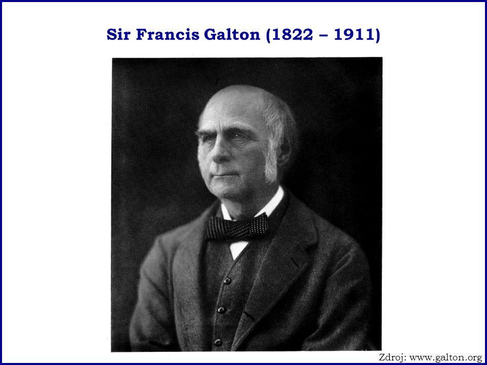 Sir Francis Galton (1822 – 1911) Zdroj: www.galton.org