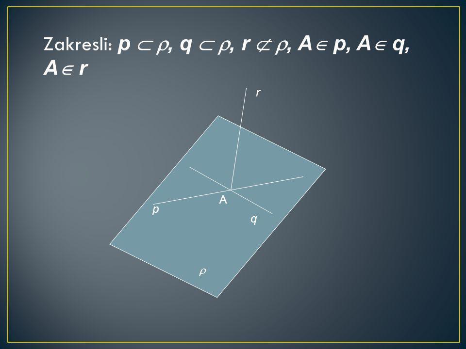 Zakresli: p  , q  , r  , A  p, A  q, A  r p q r  A