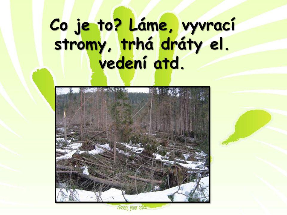 Co je to Láme, vyvrací stromy, trhá dráty el. vedení atd.