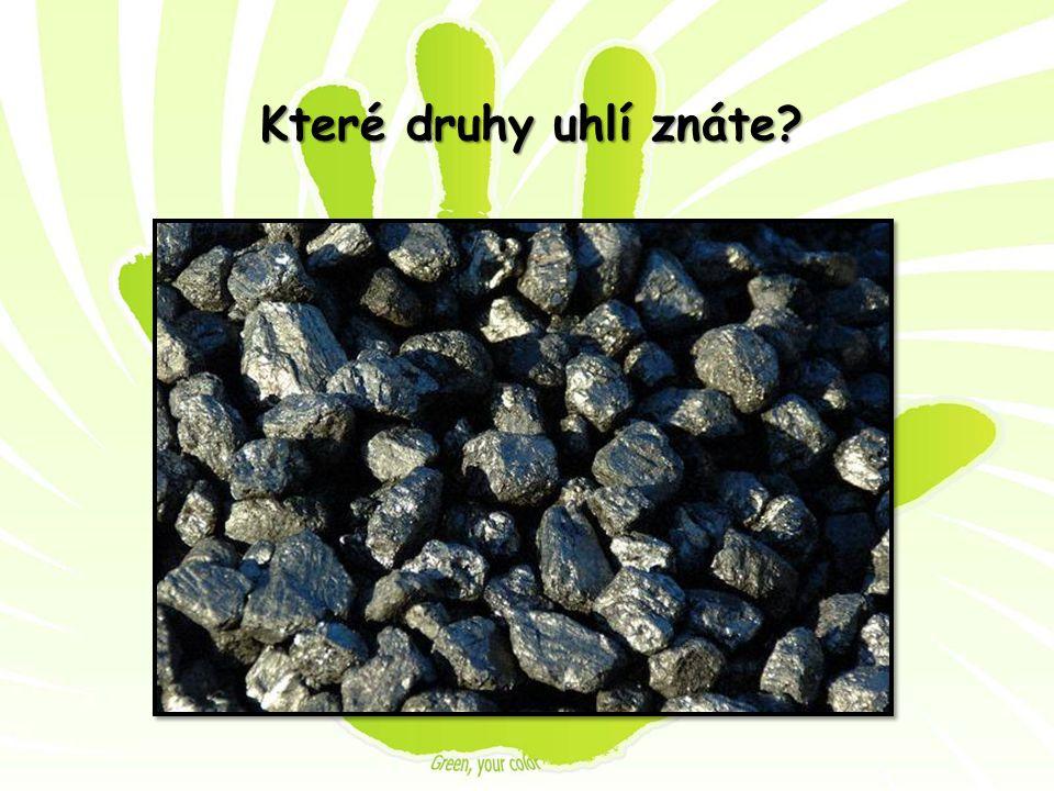 Které druhy uhlí znáte?