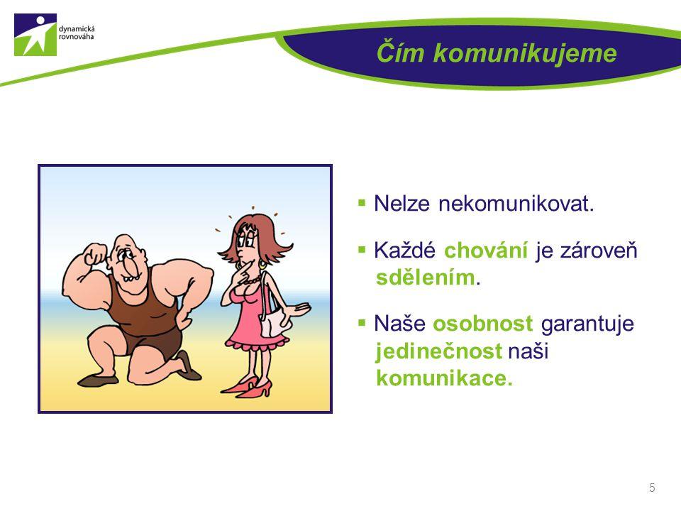 5 Čím komunikujeme  Nelze nekomunikovat. Každé chování je zároveň sdělením.