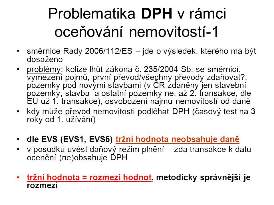 Problematika DPH v rámci oceňování nemovitostí-1 směrnice Rady 2006/112/ES – jde o výsledek, kterého má být dosaženo problémy: kolize lhůt zákona č. 2