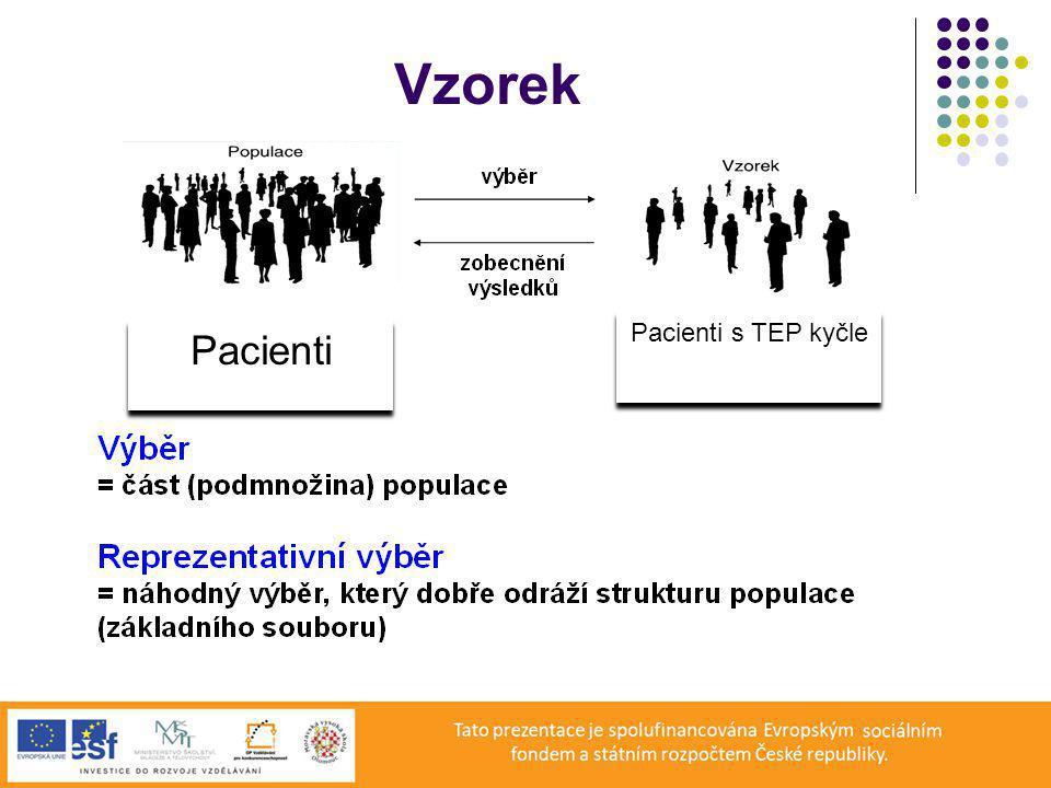 Vzorek Pacienti Pacienti s TEP kyčle