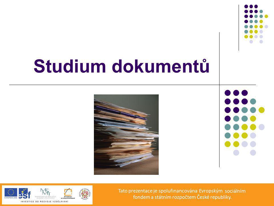 Studium dokumentů