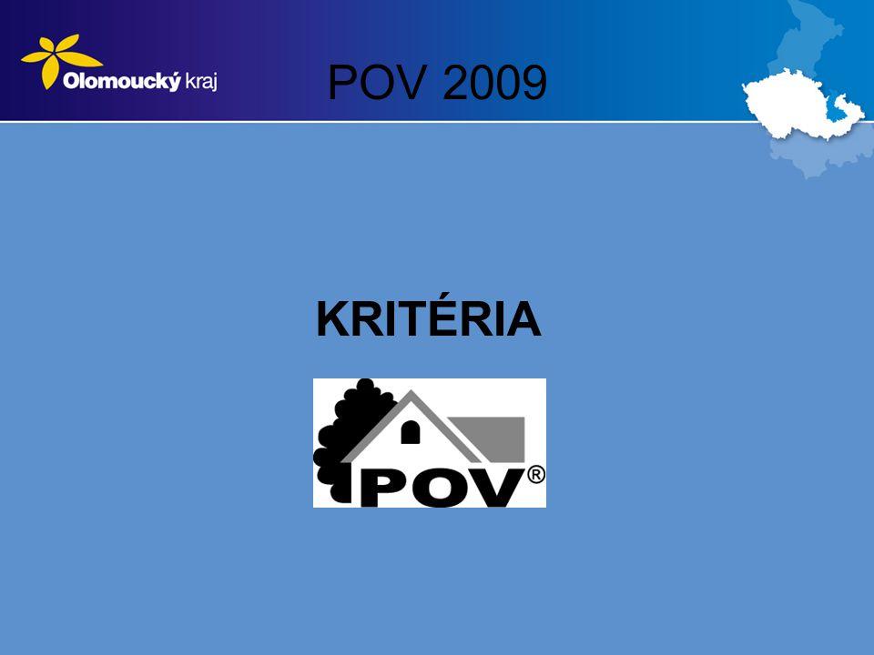 POV 2009 KRITÉRIA