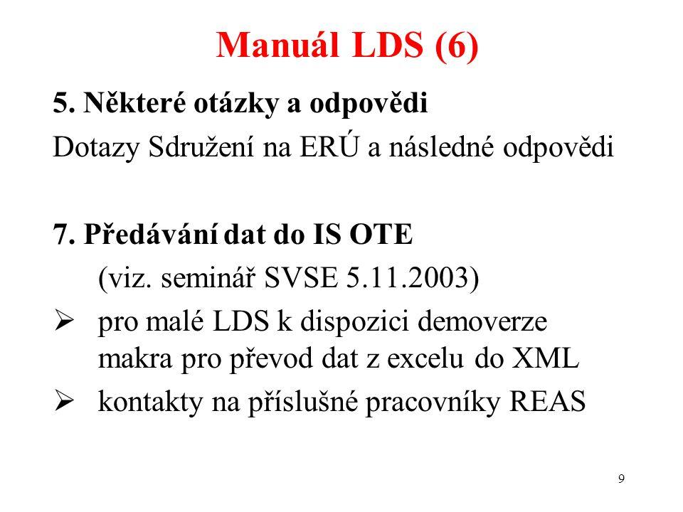 20 LDS bez licence (10) Možnosti řešení situace (3)  Dále lze uzavřít smlouvu o podílu na svých nákladech spojených se zajištěním dodávky a předáváním dat za odběrná místa vnořeného zákazníka.