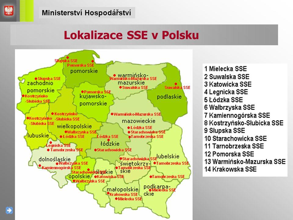Lokalizace SSE v Polsku Ministerství Hospodářství