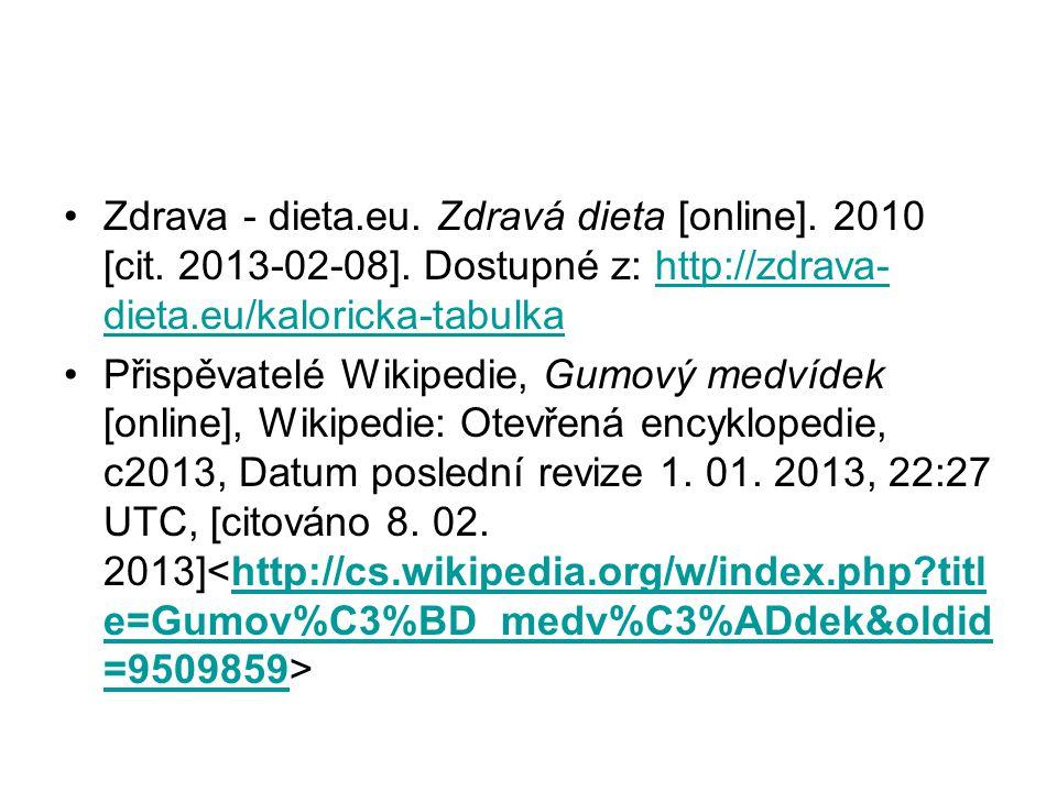 Zdrava - dieta.eu.Zdravá dieta [online]. 2010 [cit.