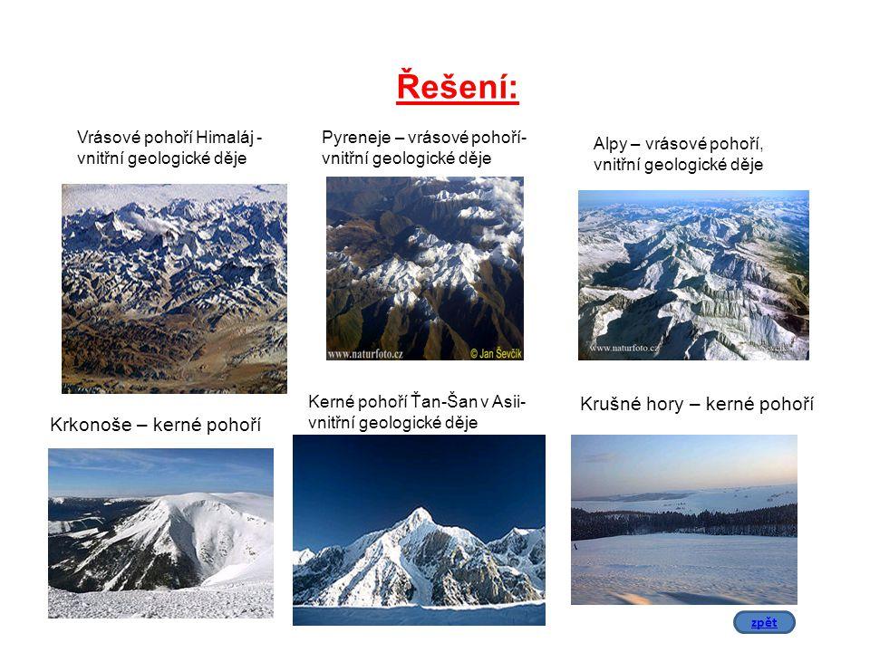 Vrásové pohoří Himaláj - vnitřní geologické děje Pyreneje – vrásové pohoří- vnitřní geologické děje Alpy – vrásové pohoří, vnitřní geologické děje Ker