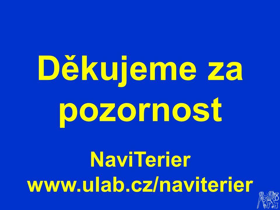 Děkujeme za pozornost NaviTerier www.ulab.cz/naviterier
