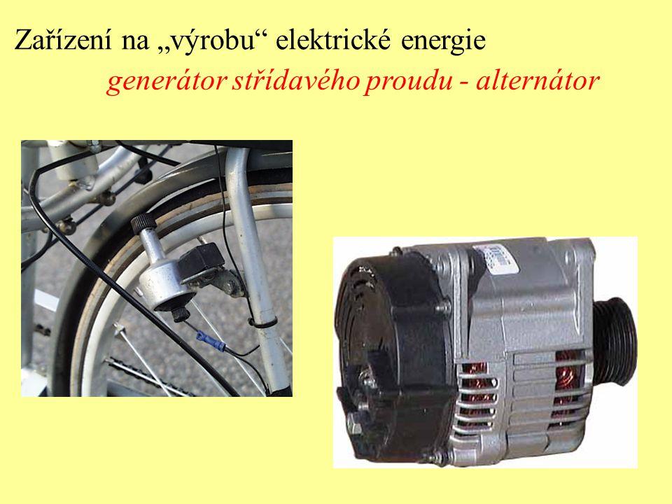 """Zařízení na """"výrobu"""" elektrické energie generátor střídavého proudu - alternátor"""