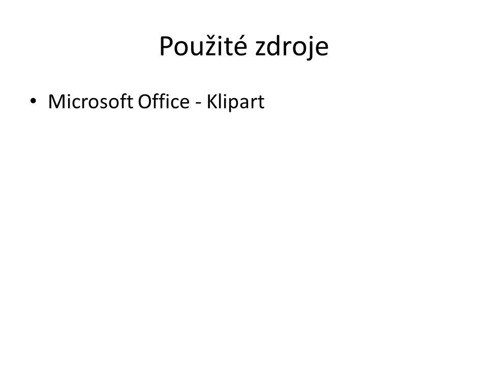 Použité zdroje Microsoft Office - Klipart