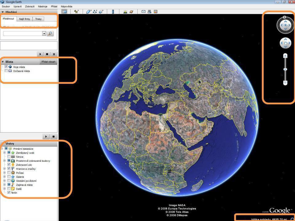 Letecké snímky Na některých místech rozlišení až 10cm/1px Aktualizace již pořízených snímků Přidávání nových snímku Včetně názvů ulic