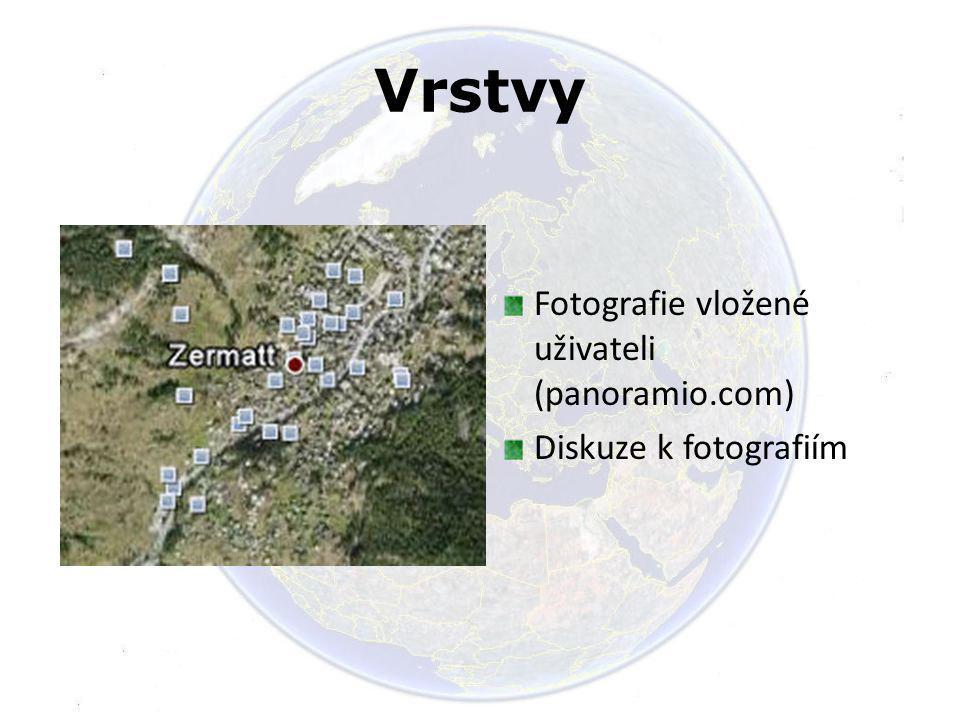 Vrstvy Fotografie vložené uživateli (panoramio.com) Diskuze k fotografiím