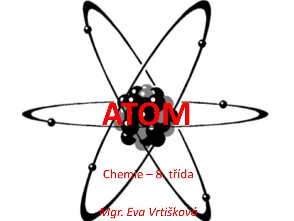 ATOM Chemie – 8. třída Mgr. Eva Vrtišková
