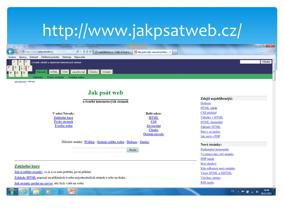 http://www.jakpsatweb.cz/