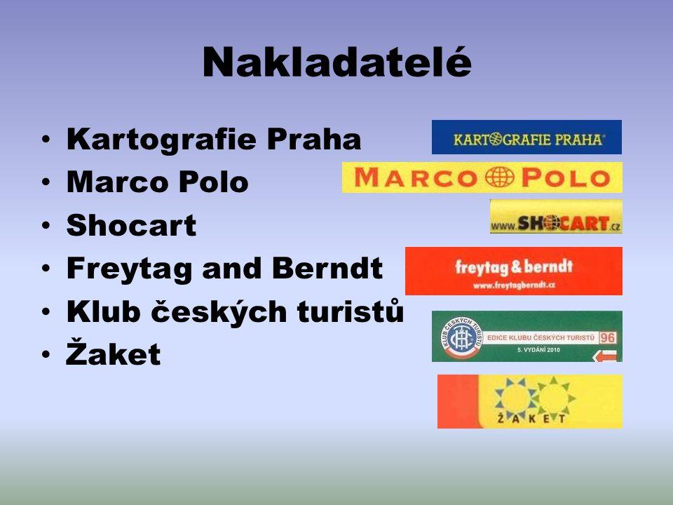 Nakladatelé Kartografie Praha Marco Polo Shocart Freytag and Berndt Klub českých turistů Žaket
