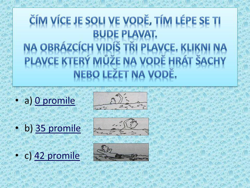 a) 0 promile0 promile b) 35 promile35 promile c) 42 promile42 promile