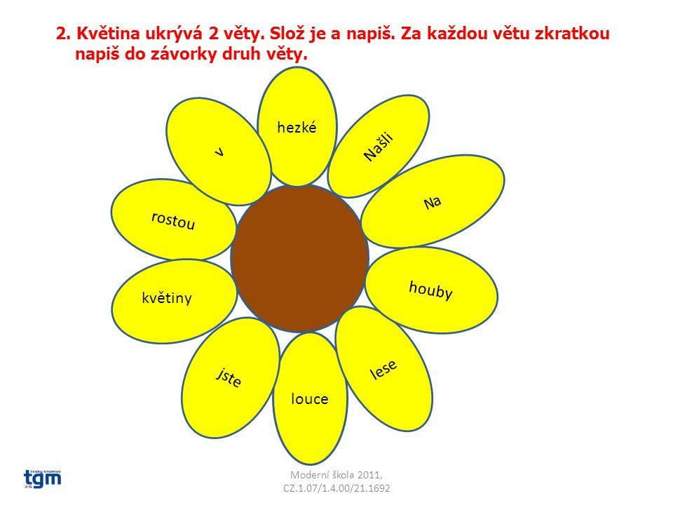 Moderní škola 2011, CZ.1.07/1.4.00/21.1692 hezké rostou louce 2.