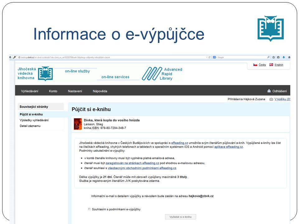 Informace o e-výpůjčce