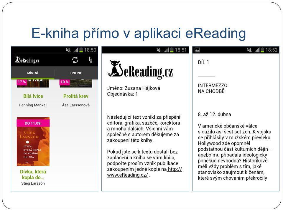 E-kniha přímo v aplikaci eReading